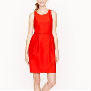 Red Wool Dress with Pockets